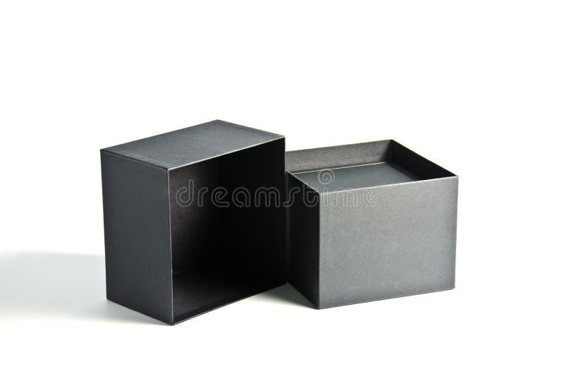 Black box. On white background royalty free stock photography