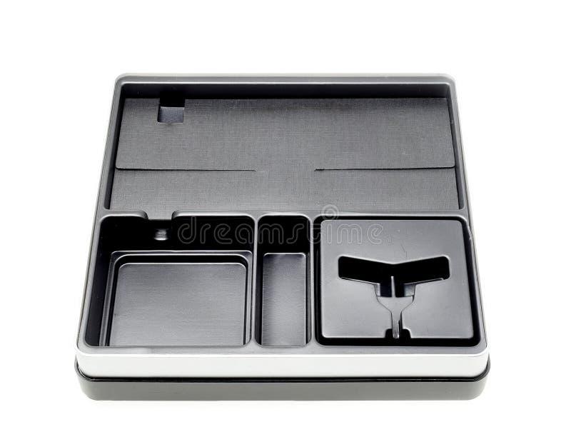 Black box isolated on white background. stock photos