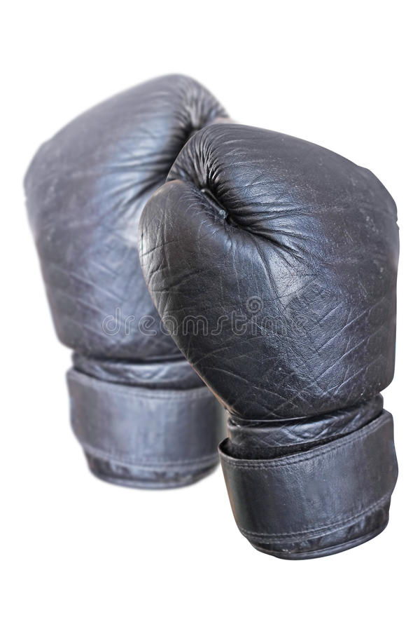 Black boxing glove royalty free stock images