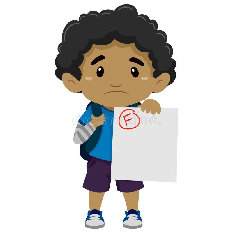 Free Black Boy Showing His Failed Exam Royalty Free Stock Photo - 70692495