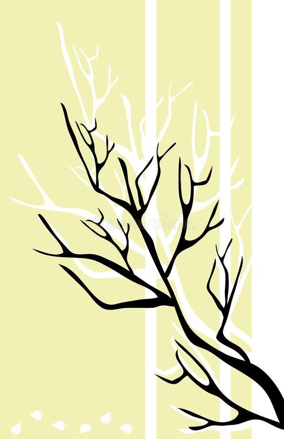 Black branch vector illustration