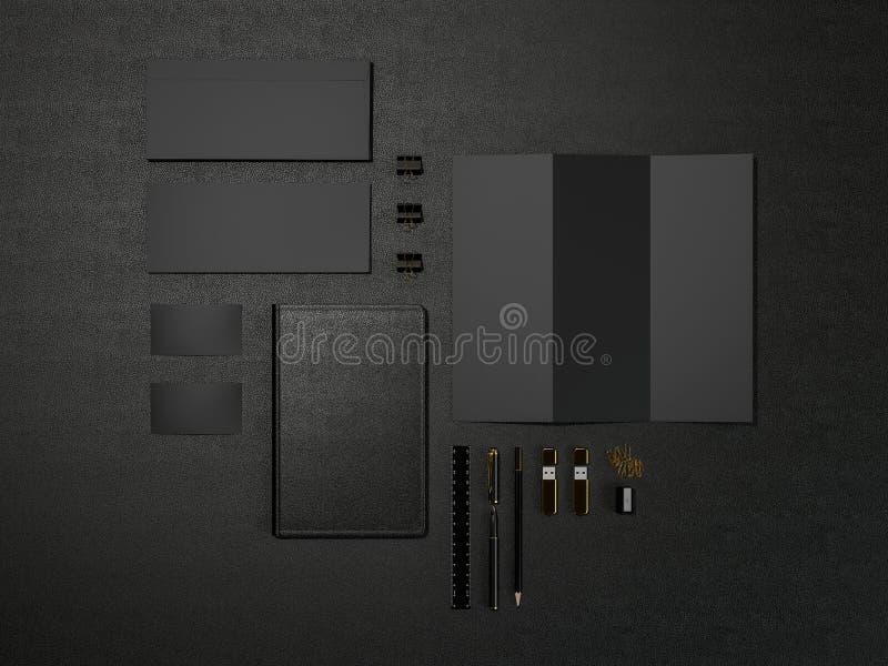 Black Branding MockUp High resolution royalty free illustration