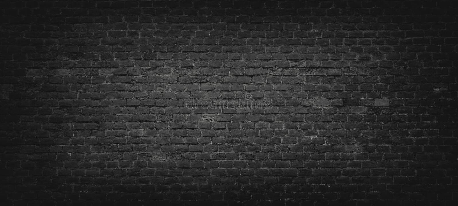 Download Black Brick Wall Background Stock Image