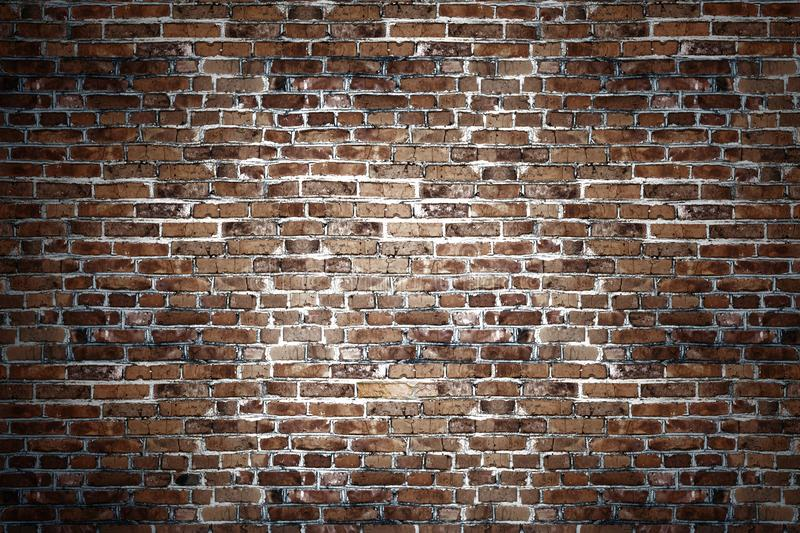 Black brick wall for background stock photos
