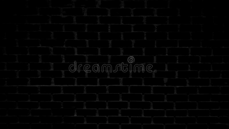 Black brick wall background, texture, horizontal, Create a light dark stock photography