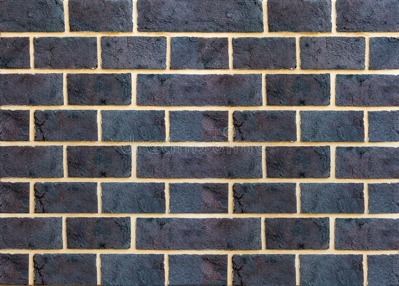 Black brick wall background. royalty free stock photo
