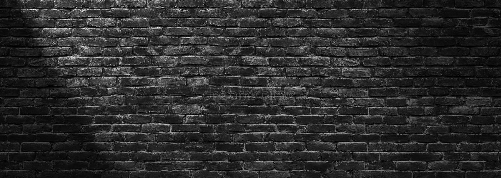 Black brick wall panoramic background for design stock photo image download black brick wall panoramic background for design stock photo image of material panorama voltagebd Images