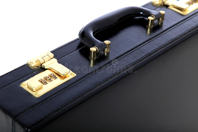 Black briefcase stock image