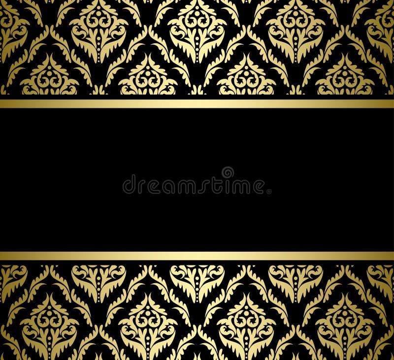 Черный фон с золотыми узорами