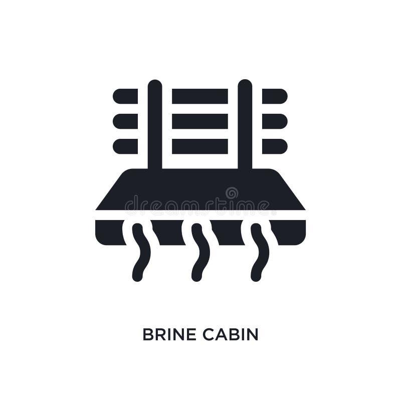 Black brine cabin isolated vector icon. simple element illustration from sauna concept vector icons. brine cabin editable logo. Symbol design on white stock illustration
