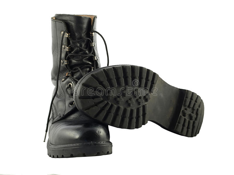 Download Black British Army Issue Combat Boots Stock Image - Image: 16938899