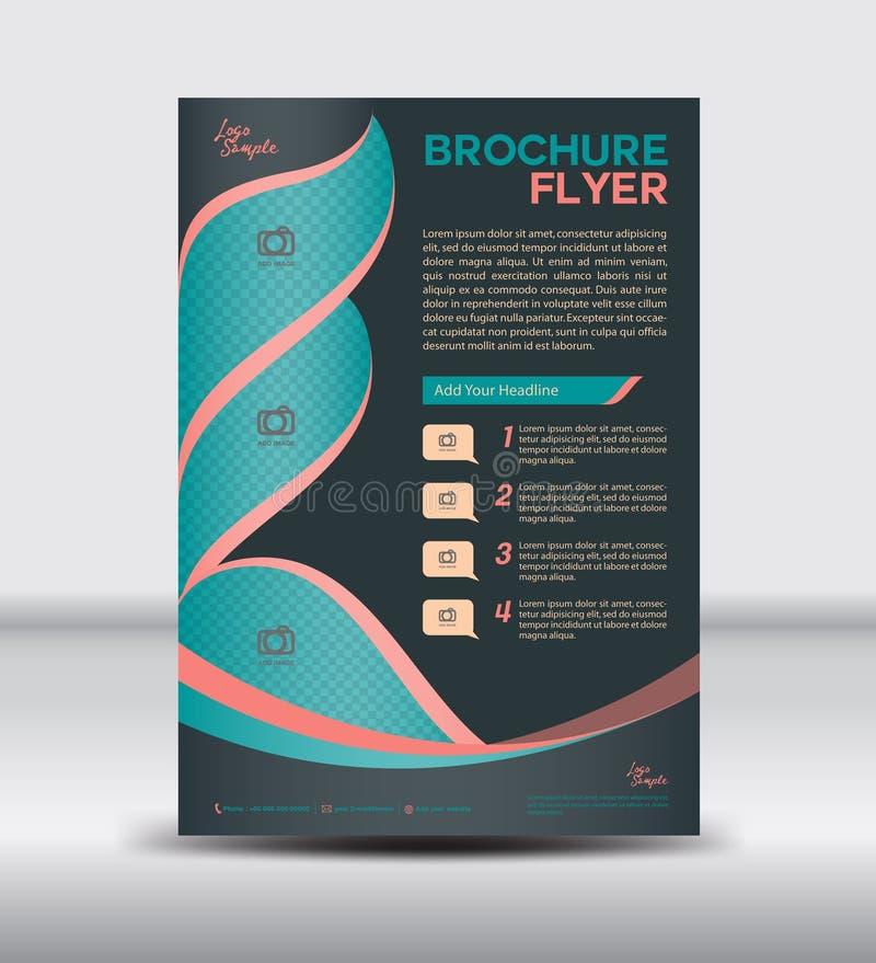 Black Brochure flyer template,newsletter design, Leaflet template. Layout design,vector illustration stock illustration