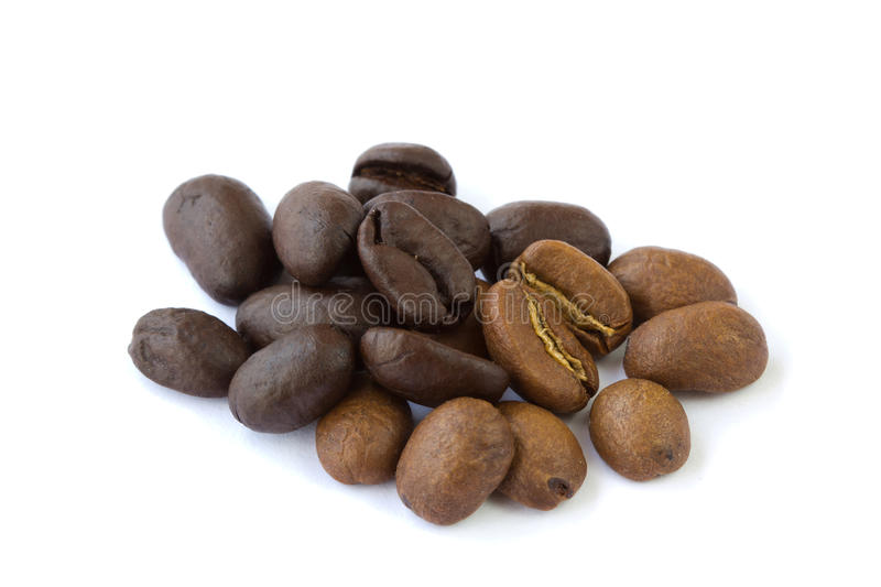Black And Brown Coffee Beans Stock Images