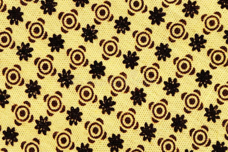 black and brown flower pattern fabric stock images
