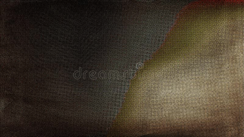 Black and Brown Grunge Halftone Pattern Texture 库存例证