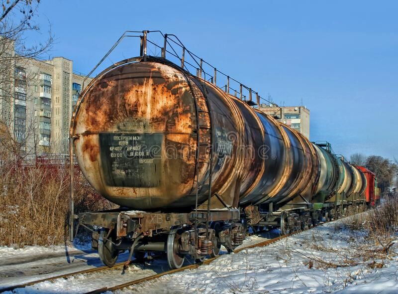 Black Brown and White Container Train stock photography