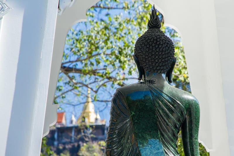 Download Black Buddha Statue In Wat Ta Kahnun Temple, Kanjanaburi , Thail Stock Image - Image of reconstruction, scaffolding: 83706365