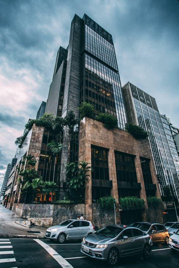 Black Building Across Cars Portrait Free Public Domain Cc0 Image