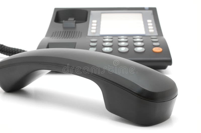 black bunden med rep telefon royaltyfria bilder