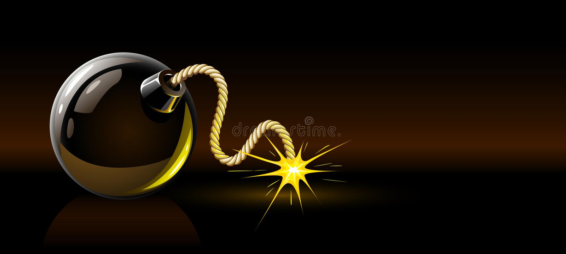 Download Black Burning Bomb Royalty Free Stock Images - Image: 12163129