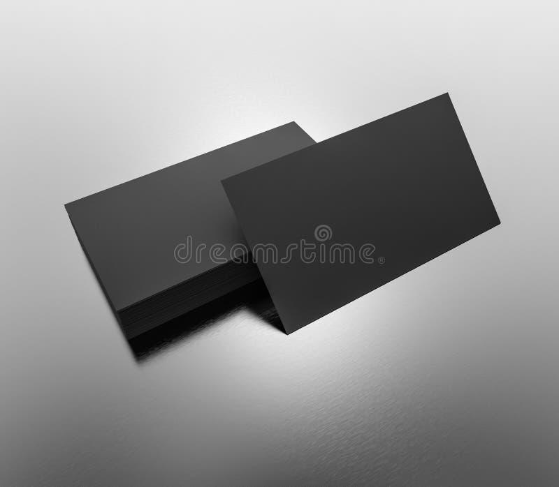 Black Business Cards Blank Mockup - Template. 3d Rendering Stock ...