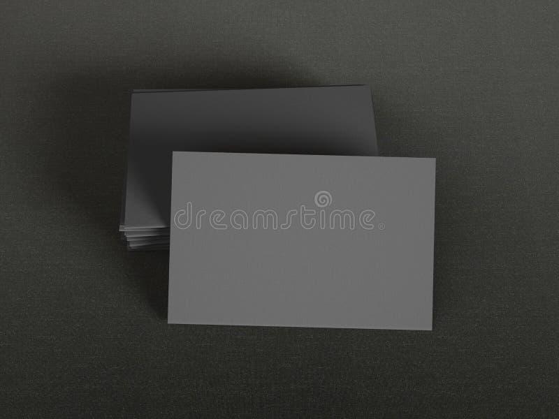 black background business cards