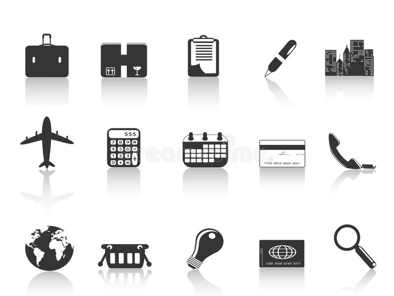 Black business icons stock illustration