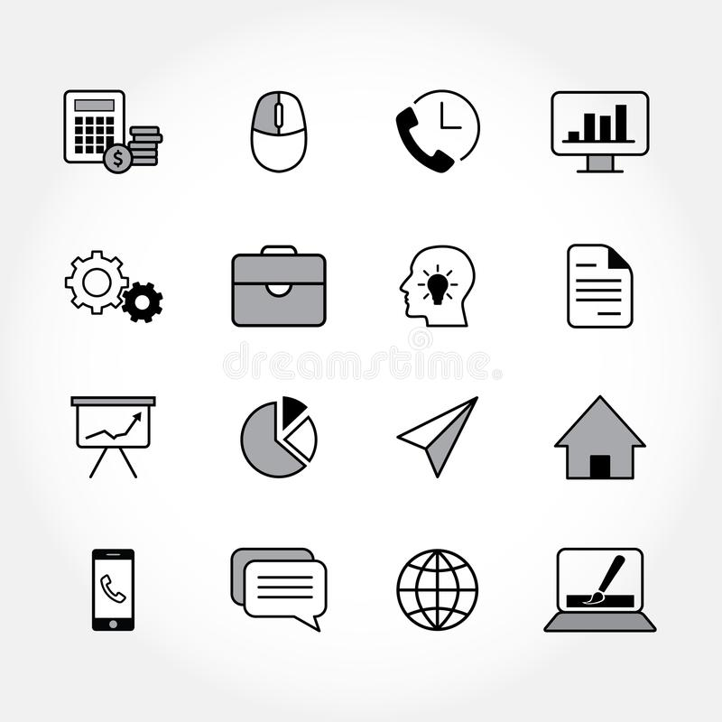 Modern business icons. Black business icons. Linear vector illustration vector illustration
