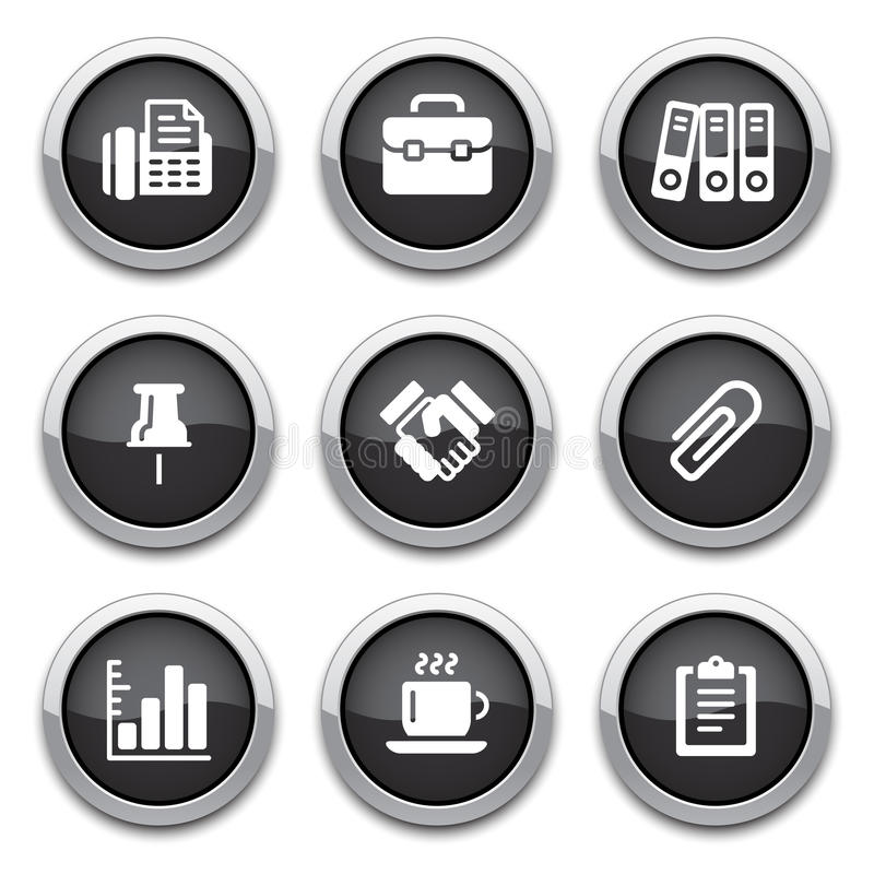 Download Black Business & Office Buttons Stock Vector - Image: 24979493