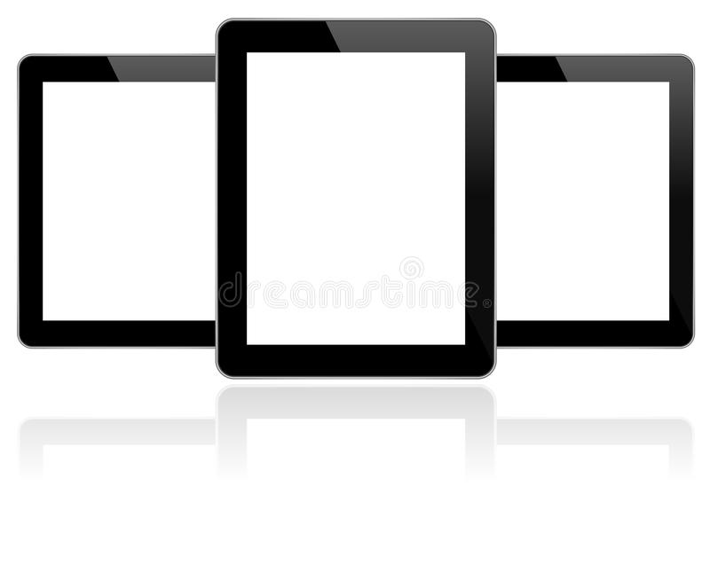 Black Business Tablets Similar To iPad 5 royalty free stock photography