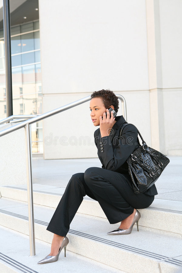 Black Business Woman royalty free stock photography