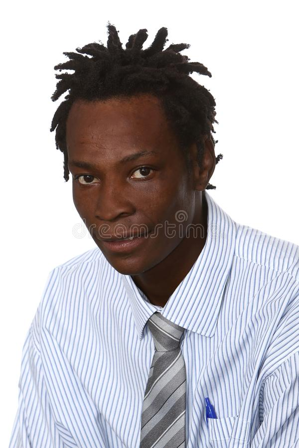 Black Businessman With Dreadlocks Stock Photo Image