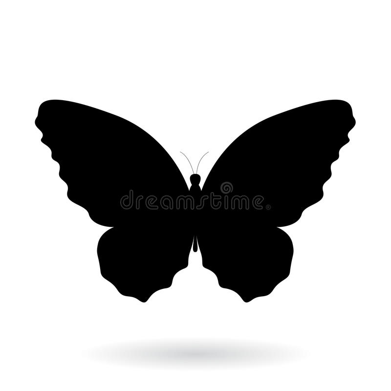 Free Black Butterfly Silhouette Illustration Stock Images - 80617404