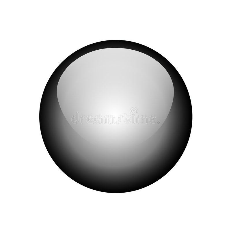 Black button royalty free stock photography