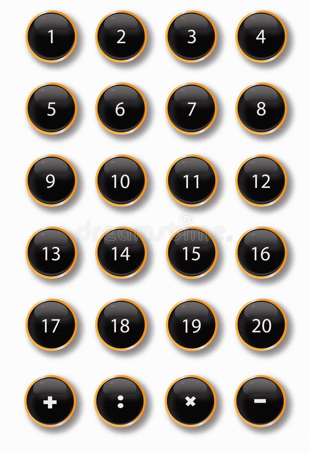 Download Black buttons stock illustration. Image of arithmetic - 19560802