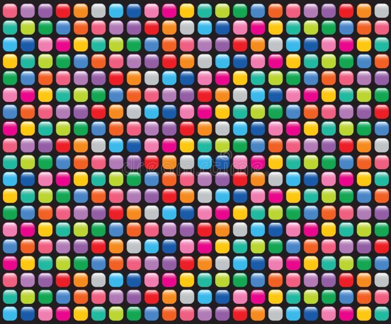 black buttons mosaikregnbågen stock illustrationer