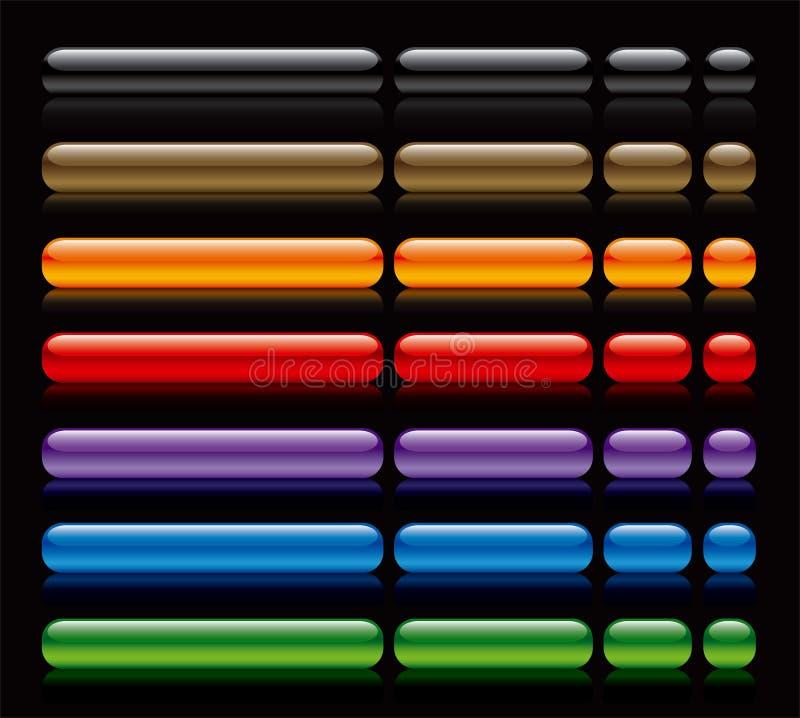 black buttons rengöringsduk stock illustrationer