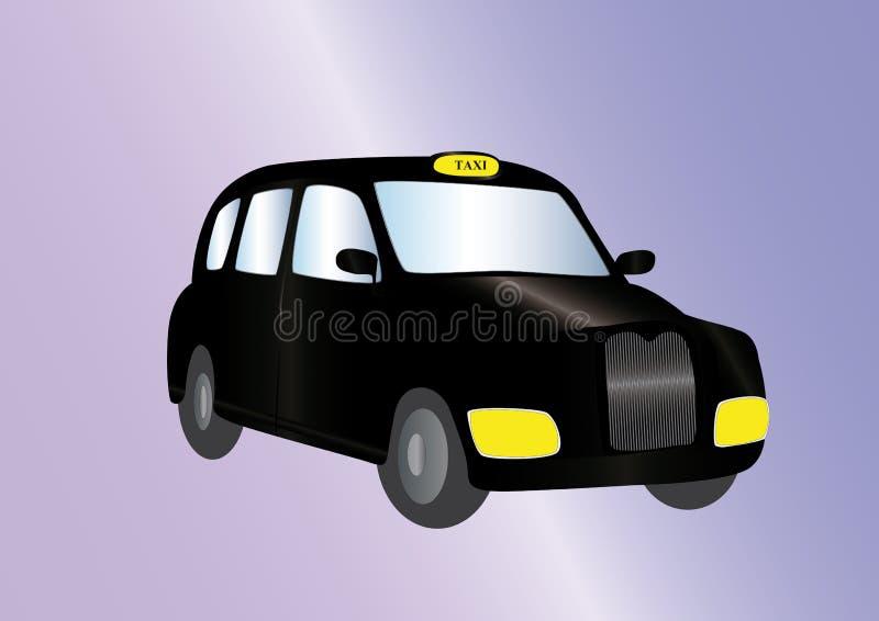 Black cab. Illustration of a black cab on a light purple background vector illustration