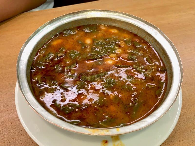 Black Cabbage or Kale Soup / Turkish Kara Lahana Corbasi royalty free stock photography