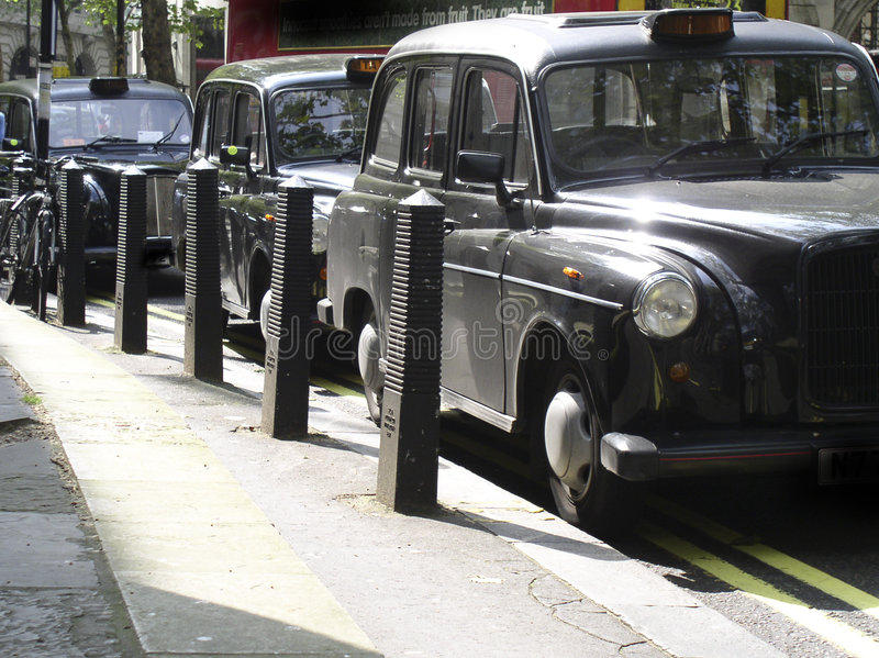 Black cabs royalty free stock photo