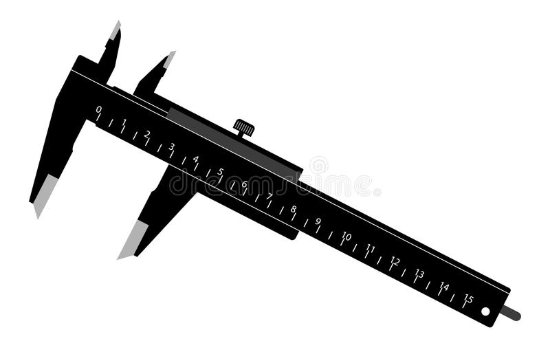 Black Caliper. Vector Illustration of a Simple Black Caliper royalty free illustration