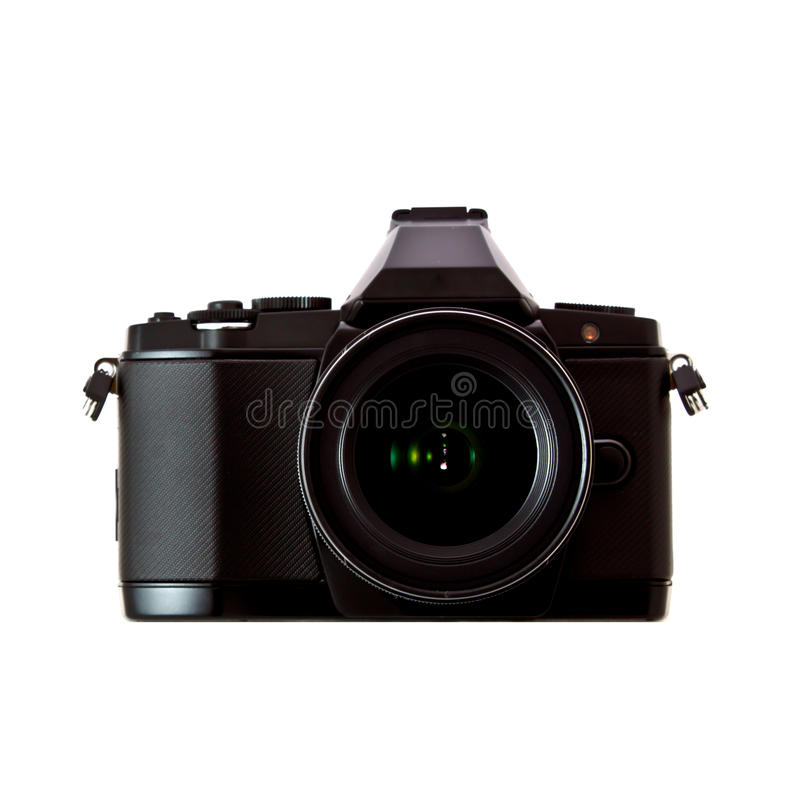 Download Black Camera On White Background 1 Stock Image - Image of object, camera: 26960361