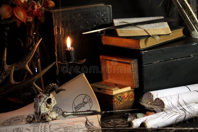 Black candle Magic Ritual stock photo. Image of fear ...