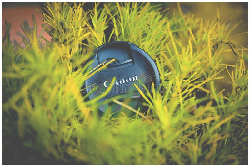 Black Canon Dslr Lens Cover royalty free stock photography