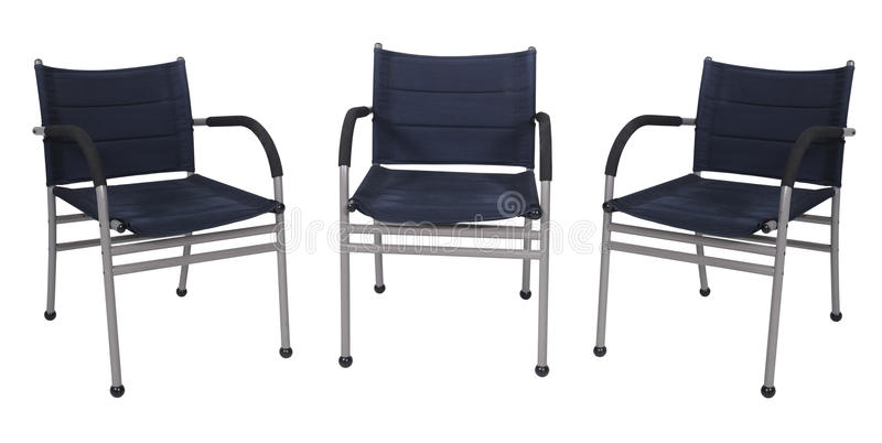 Black Canvas chair stock images