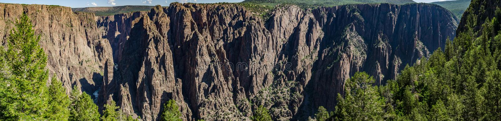Black Canyon of the Gunnison Panorama royalty free stock images