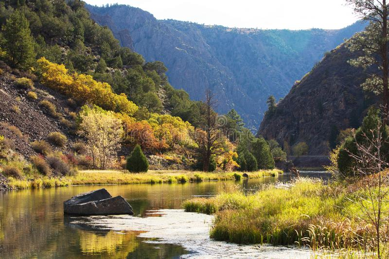 Black Canyon of the Gunnison park in Colorado, USA.  royalty free stock images