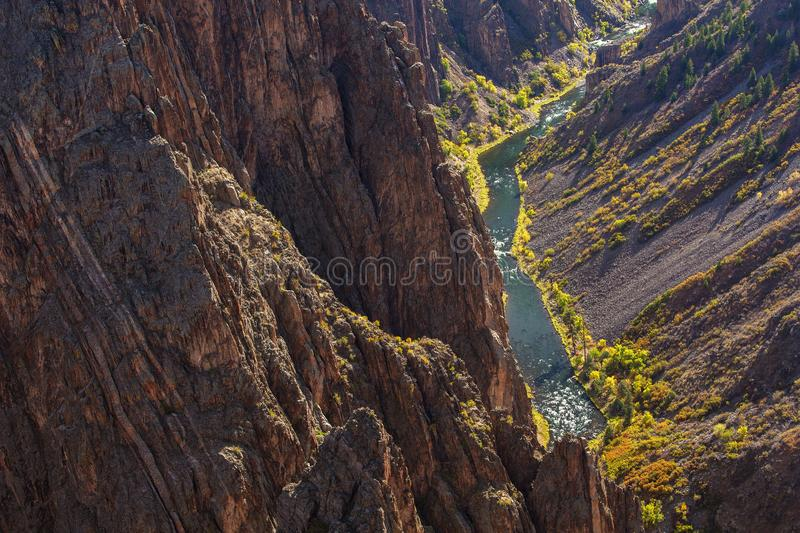 Black Canyon of the Gunnison park in Colorado, USA.  stock photo