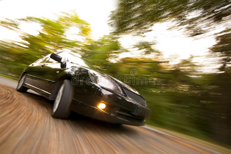 Download Black car fast moving stock image. Image of vehicle, drifting - 11180011