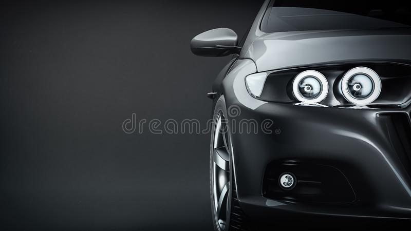 black car sports ελεύθερη απεικόνιση δικαιώματος